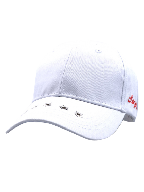 Traverse Star Rivet Letters Baseball Cap - WHITE  Mobile