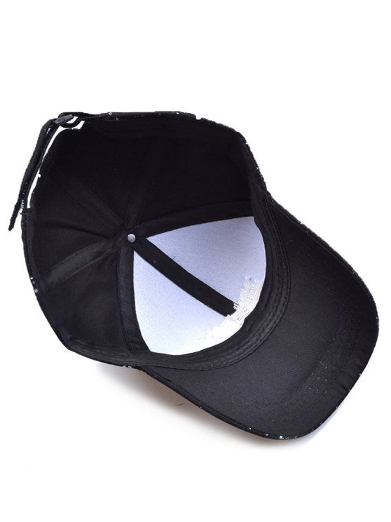 Sunproof Letters Print Baseball Cap - BLACK  Mobile