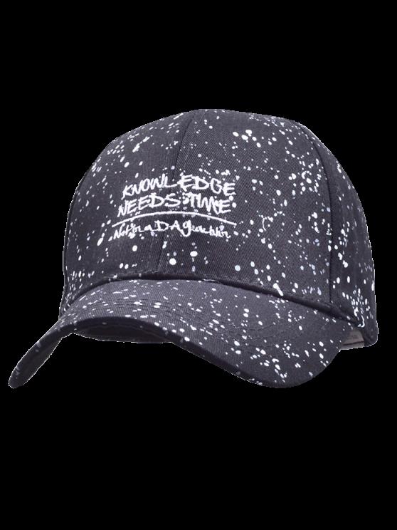 Cartas de nieve Imprimir gorra de béisbol - Negro