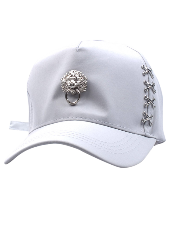 buy Dragon Head Door Knocker Baseball Hat - WHITE