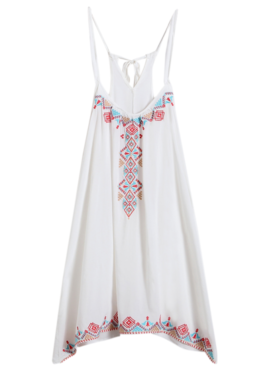 outfit Spaghetti Strap Dress - WHITE ONE SIZE