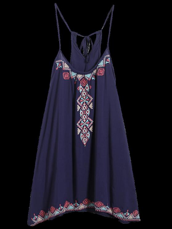 shop Spaghetti Strap Dress - PURPLISH BLUE ONE SIZE