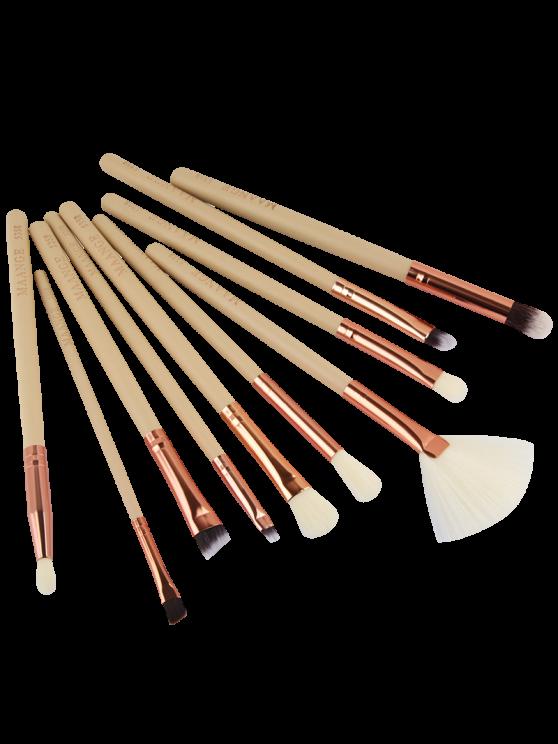 women's 10 Pcs Eye Makeup Brushes Set - COMPLEXION