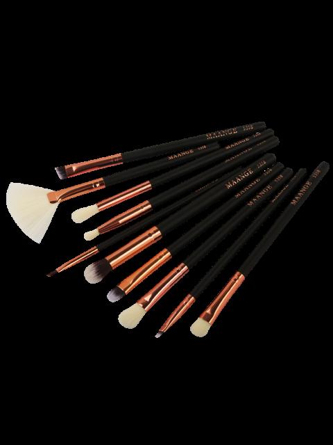 women 10 Pcs Eye Makeup Brushes Set - BLACK  Mobile