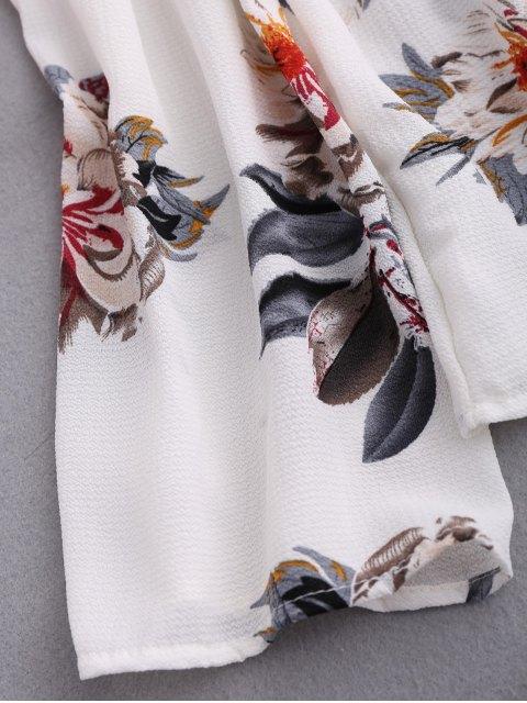 shop Floral Off Shoulder Choker Blouse - COLORMIX XL Mobile