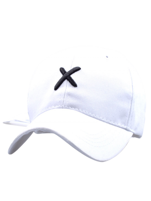 chic Cross Embroidery Baseball Hat - WHITE  Mobile