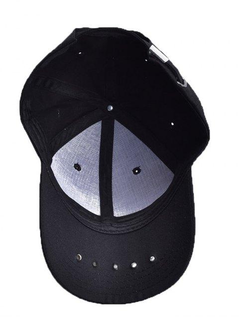 affordable Traverse Star Rivet Letters Baseball Cap - BLACK  Mobile