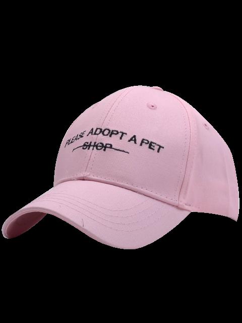 sale Adop Pet Shop Embroidery Baseball Hat - LIGHT PINK  Mobile