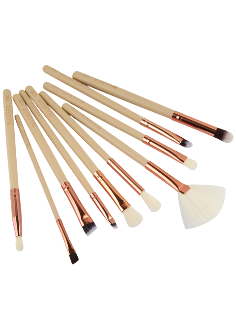 women's 10 Pcs Eye Makeup Brushes Set - COMPLEXION  Mobile