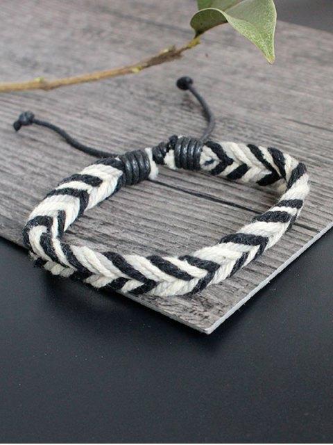 buy Faux Leather Rope Woven Bracelet Set - MULTICOLOR  Mobile