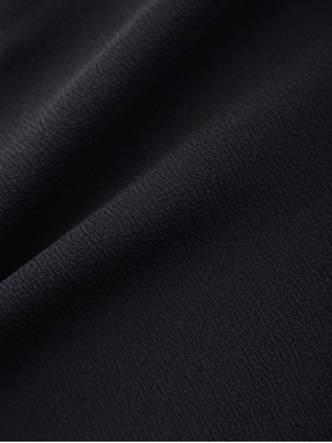 fashion Laser Cutout Cross Back Romper - BLACK XL Mobile