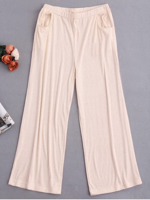trendy Graphic Top and Wide Leg Pants Sleepwear - PALOMINO S Mobile