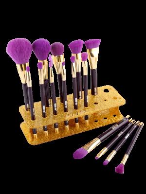 MAANGE Makeup Brush Holder Brush Stand - Golden
