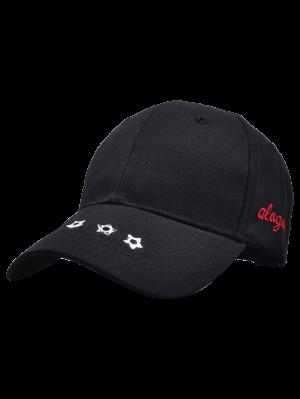 Traverse Star Rivet Letters Baseball Cap - Black