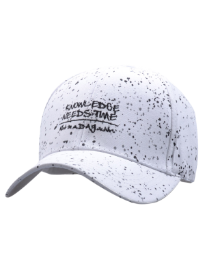 Sunproof Letters Print Baseball Cap - White