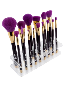 Maange Pinceau De Maquillage Holder Brush Stand - Transparent