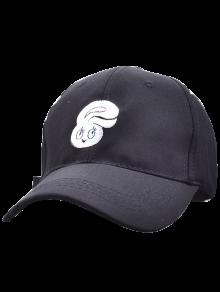 Cabeza de conejo de la historieta del sombrero del bordado del béisbol
