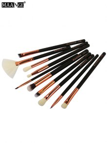 MAANGE 10 Pcs Eye Makeup Brushes Set - Black