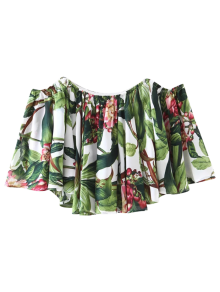 Tropical Off Shoulder Blouse - Floral S
