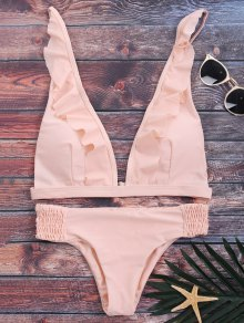 Ruffles Plunge Bathing Suit