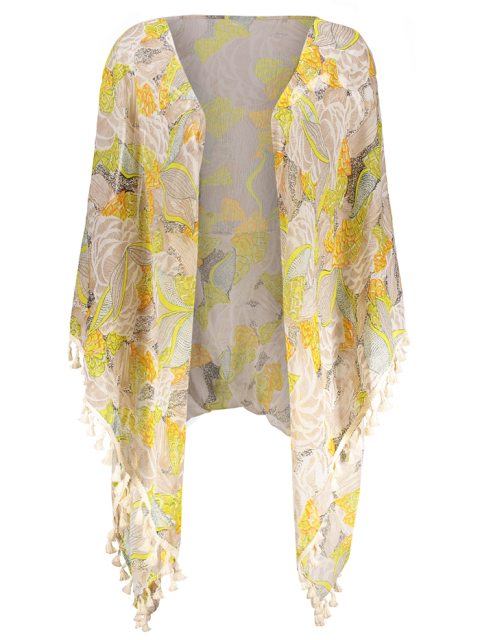 outfit Tassels Floral Kimono - FLORAL S Mobile