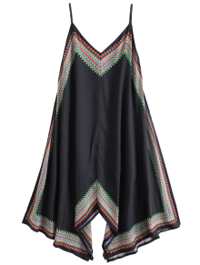 Printed Asymmetrical Beach Dress