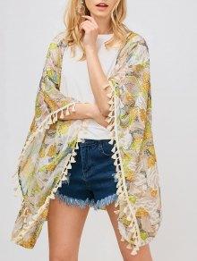 Tassels Floral Kimono - Floral L