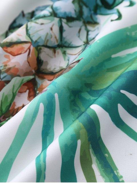 sale Floral Print Flowing Dress - COLORMIX L Mobile