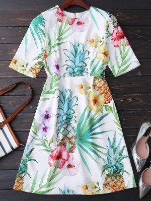 Impresión Floral Que Fluye Vestido