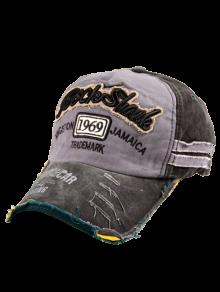 1969 Embroidery Frayed Edge Baseball Hat - Black