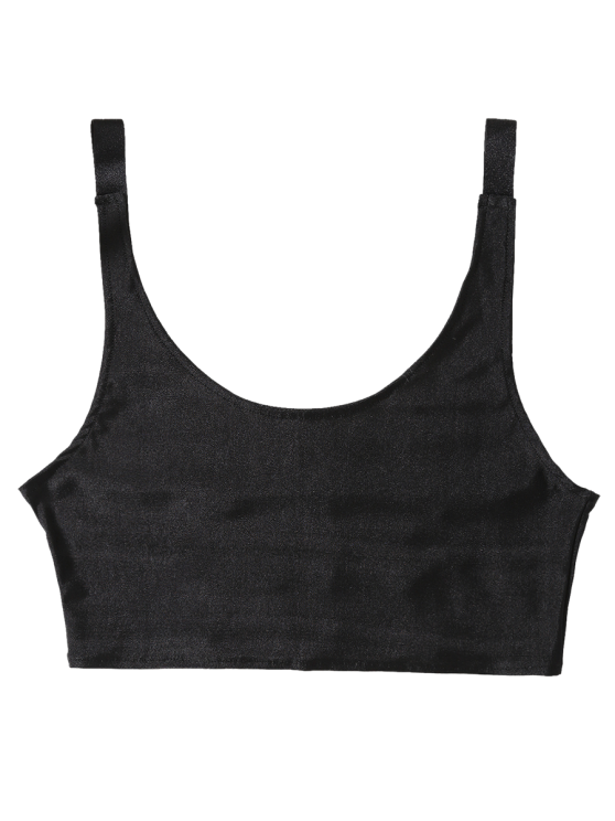Unlined Laddering Sports Bra - BLACK ONE SIZE Mobile