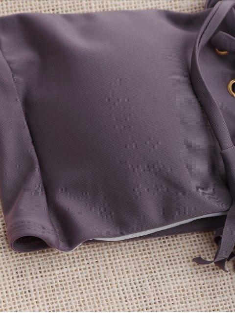 sale Lace Up Bandeau Bikini Set - SMASHING S Mobile