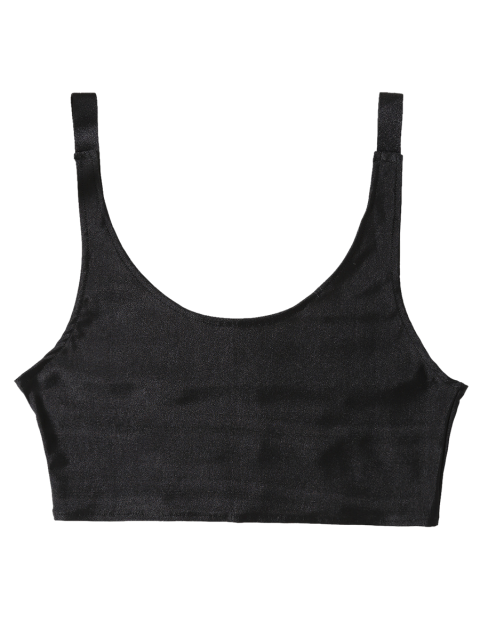 fashion Unlined Laddering Sports Bra - BLACK ONE SIZE Mobile