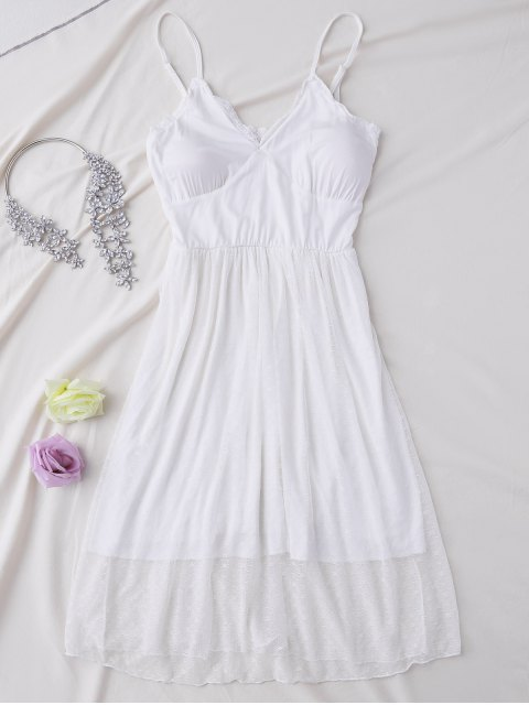 shops Padded Layered Mesh Babydoll - WHITE L Mobile