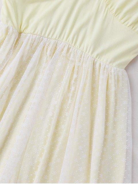fashion Padded Layered Mesh Babydoll - PALOMINO L Mobile