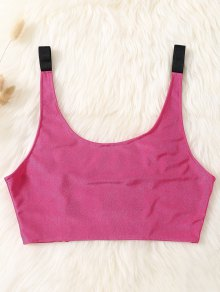 Unlined Laddering Sports Bra - Rose Red