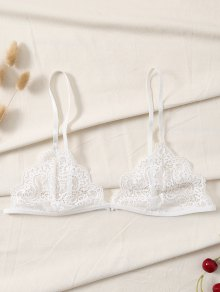 Plunge Scalloped Lace Bra
