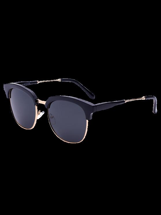 Gafas de sol metálicas del panel de golf - Negro