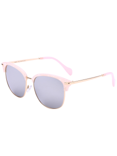 Butterfly Mirrored Sunglasses - Silver