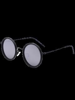 Round Mirrored Sunglasses - Silver