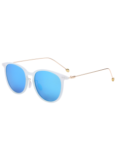Butterfly Frame Skinny Leg Mirrored Sunglasses - Cloudy