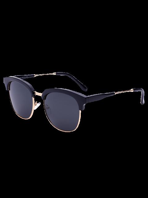 chic Metallic Panel Golf Sunglasses - BLACK  Mobile
