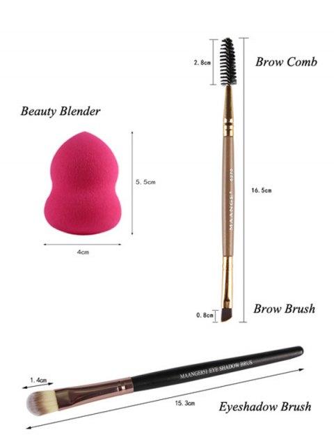 trendy Makeup Sponges + Eyeshadow Brushes + Eyebrow Brushes - BLACK  Mobile