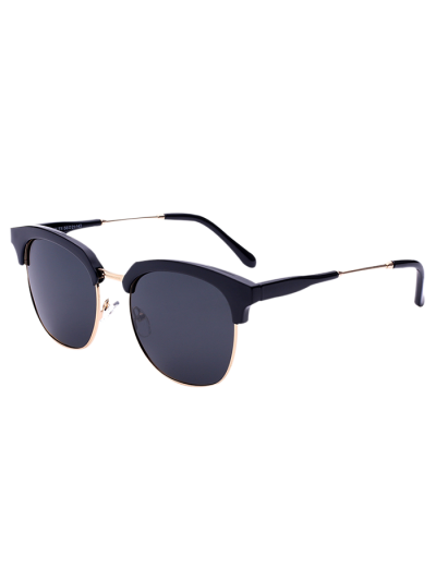 Metallic Panel Golf Sunglasses - Black