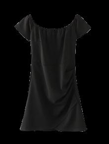 Hombro Vestido ajustado con pliegues