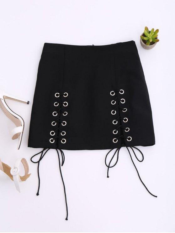 Hasta el punk Mini falda de encaje - Negro L