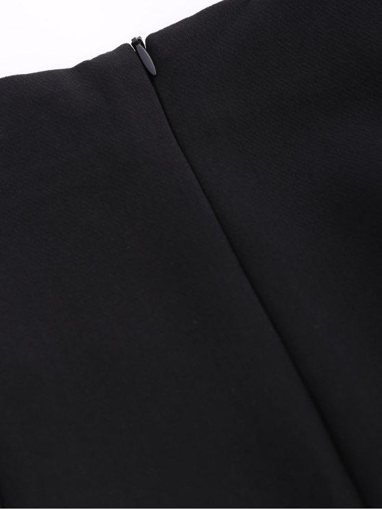 Punk Lace Up Mini Skirt - BLACK L Mobile