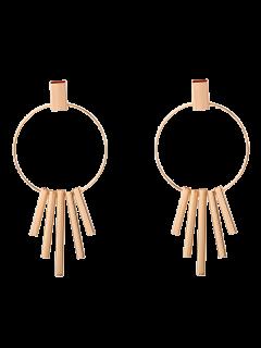 Bars Circle Earrings - Golden