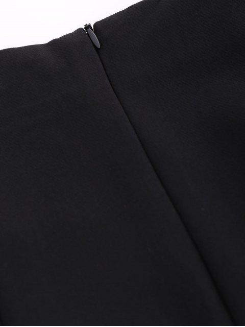 women Punk Lace Up Mini Skirt - BLACK L Mobile