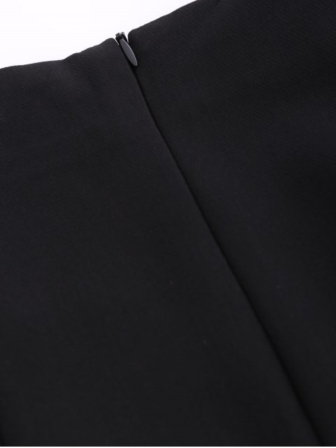 ladies Punk Lace Up Mini Skirt - BLACK S Mobile